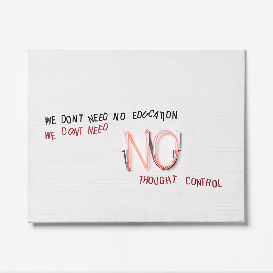 "No Education / Neon / / "" x "" / 2016"