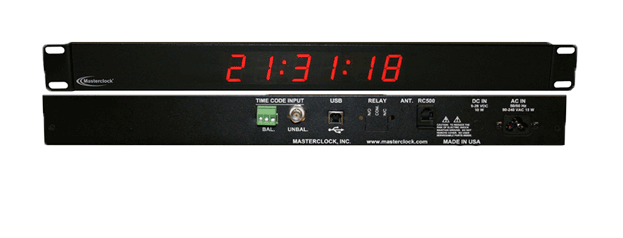 TCDS16-RM Time Code Digital Clock