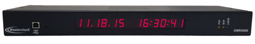 Master clock c  onfigurable for multiple outputs, including   SMPTE, EBU or IRIG-B t  ime c  odes