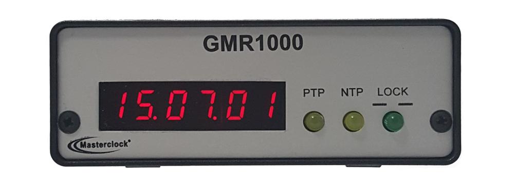 GMR1000 PTP NTP timecode Master Clock
