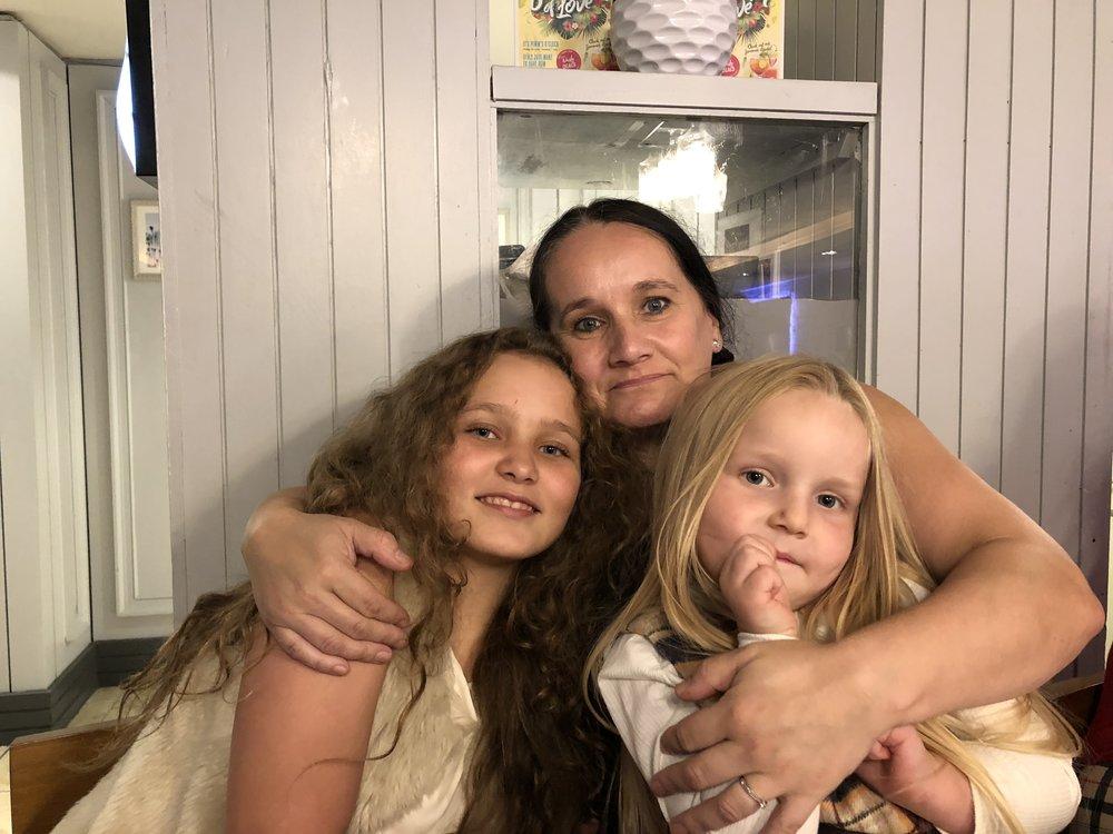 Ann with Ella & Faith