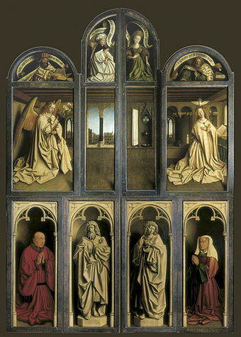 The magnificent Ghent Altarpiece (closed view)