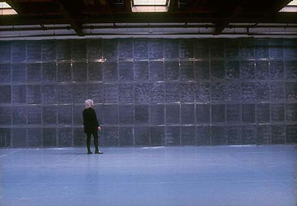 Mourning Wall with the artist, Ellen Carey Real Art Ways, 2000 ––