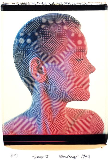 Ellen Carey,  Polaroid 20 x 24 Portrait Series (Nancy)  1994 ––