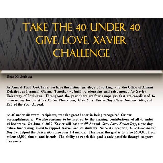 Here's a challenge for our three 40 Under 40 classes!!! #GLXU17