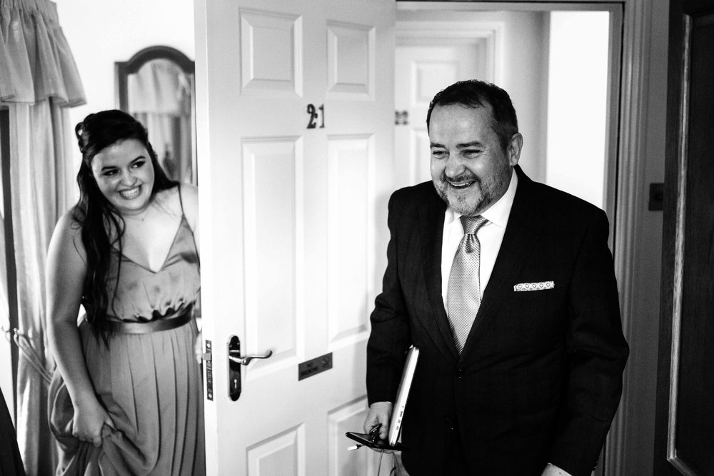Eliana's dad seeing her all ready for the ceremony… #allthefeels