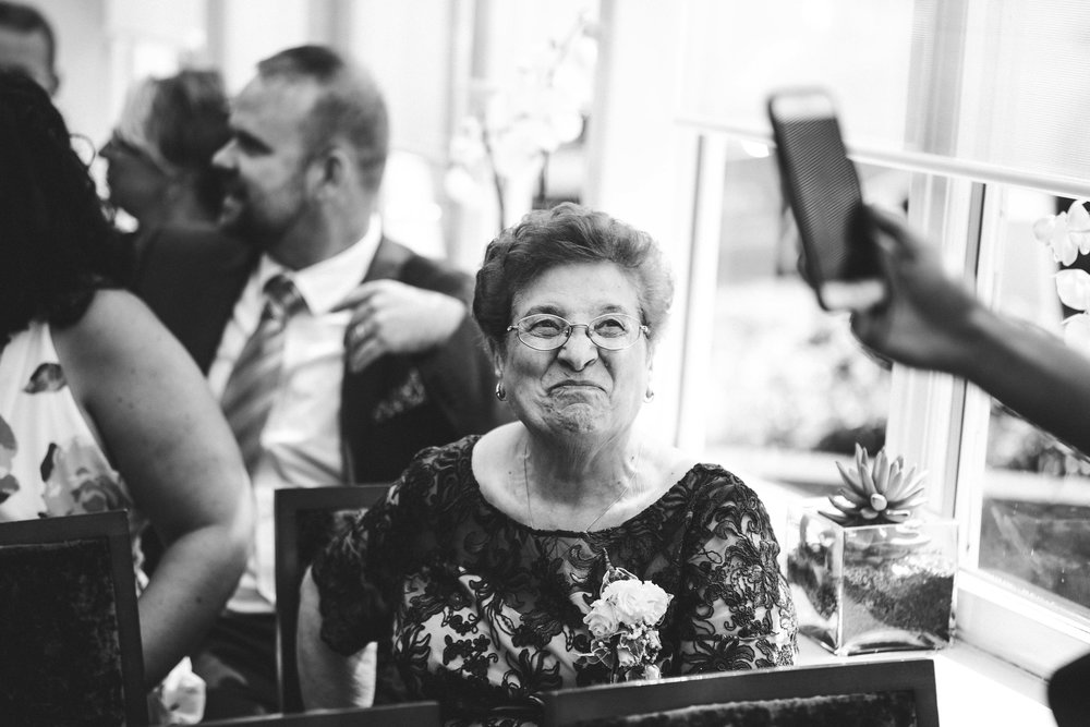 The bride's dear Nona
