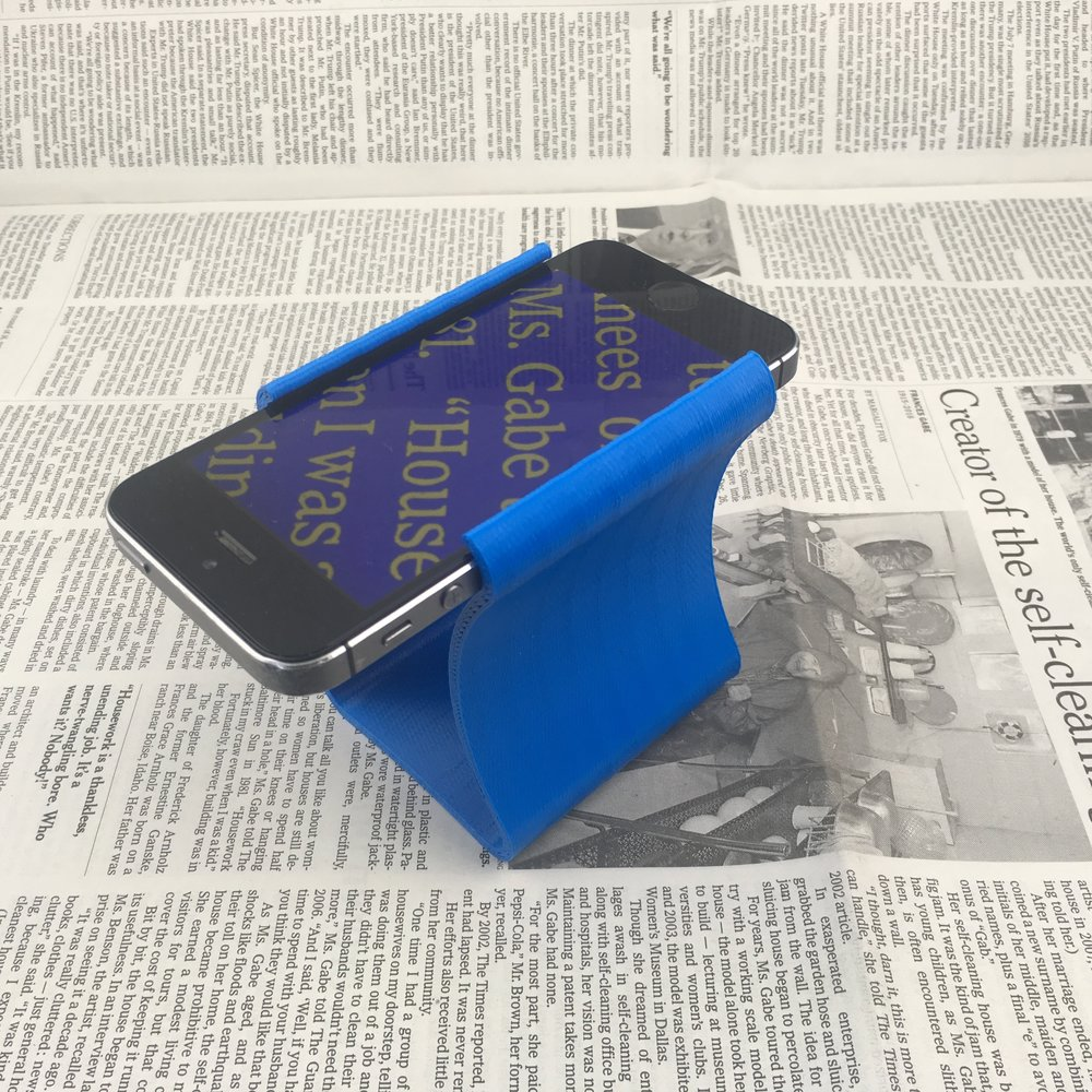 Blue Visor Smartphone Stand for people with low vision