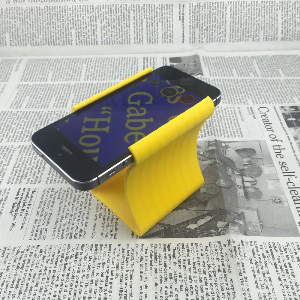 Visor Smartphone Stand yellow