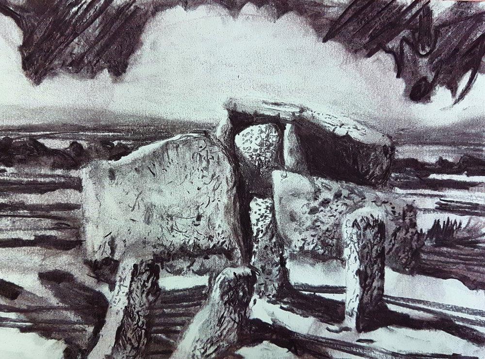 Zennor Cromlech charcoal on paper 21 x 28cm 2017.jpg