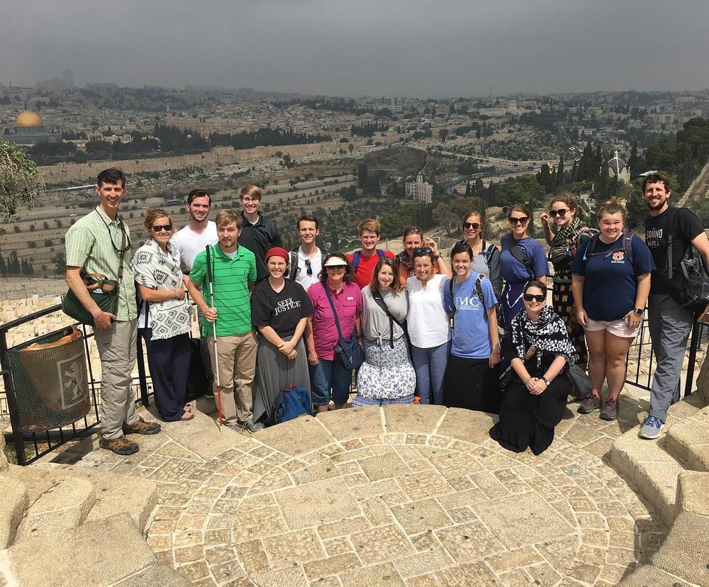Today, on the Mount of Olives, over looking the City of Jerusalem