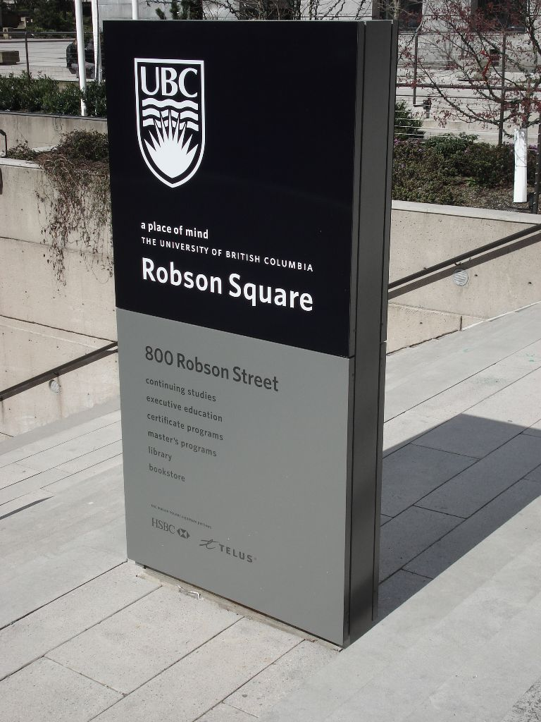 UBC Robson Square Wayfinding