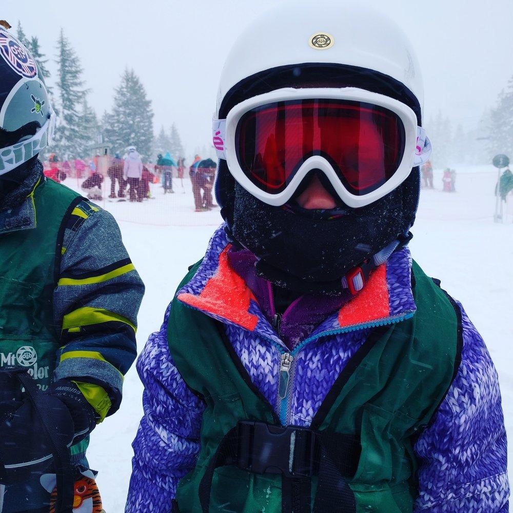 Jordan at ski lessons