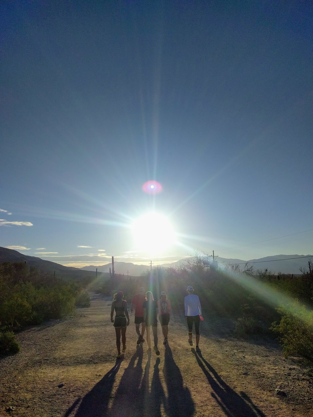 Fellow campers starting the Sabino Canyon run.