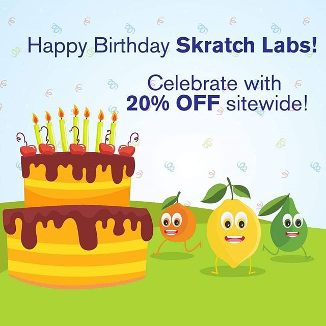 Skratch Labs turned 7! Celebrate by taking 20% OFF sitewide during their annual birthday sale, and see why I'm such a big fan. 😊 No code needed!