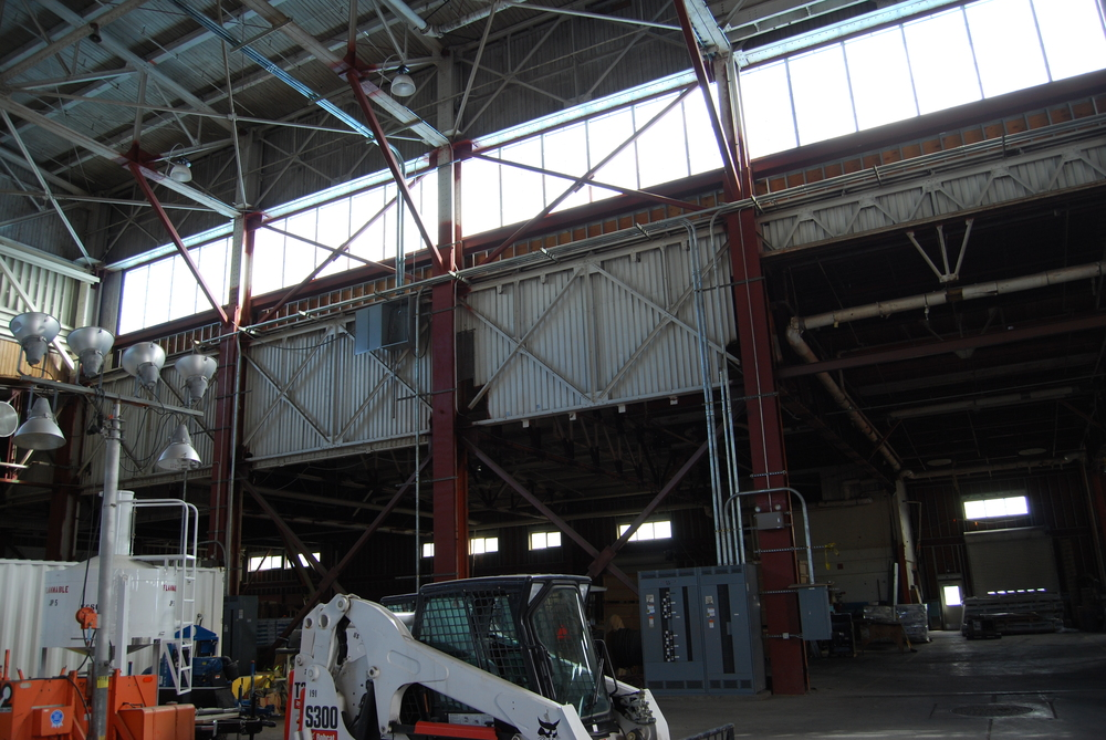 Hangar Bay wall prior to Renovation