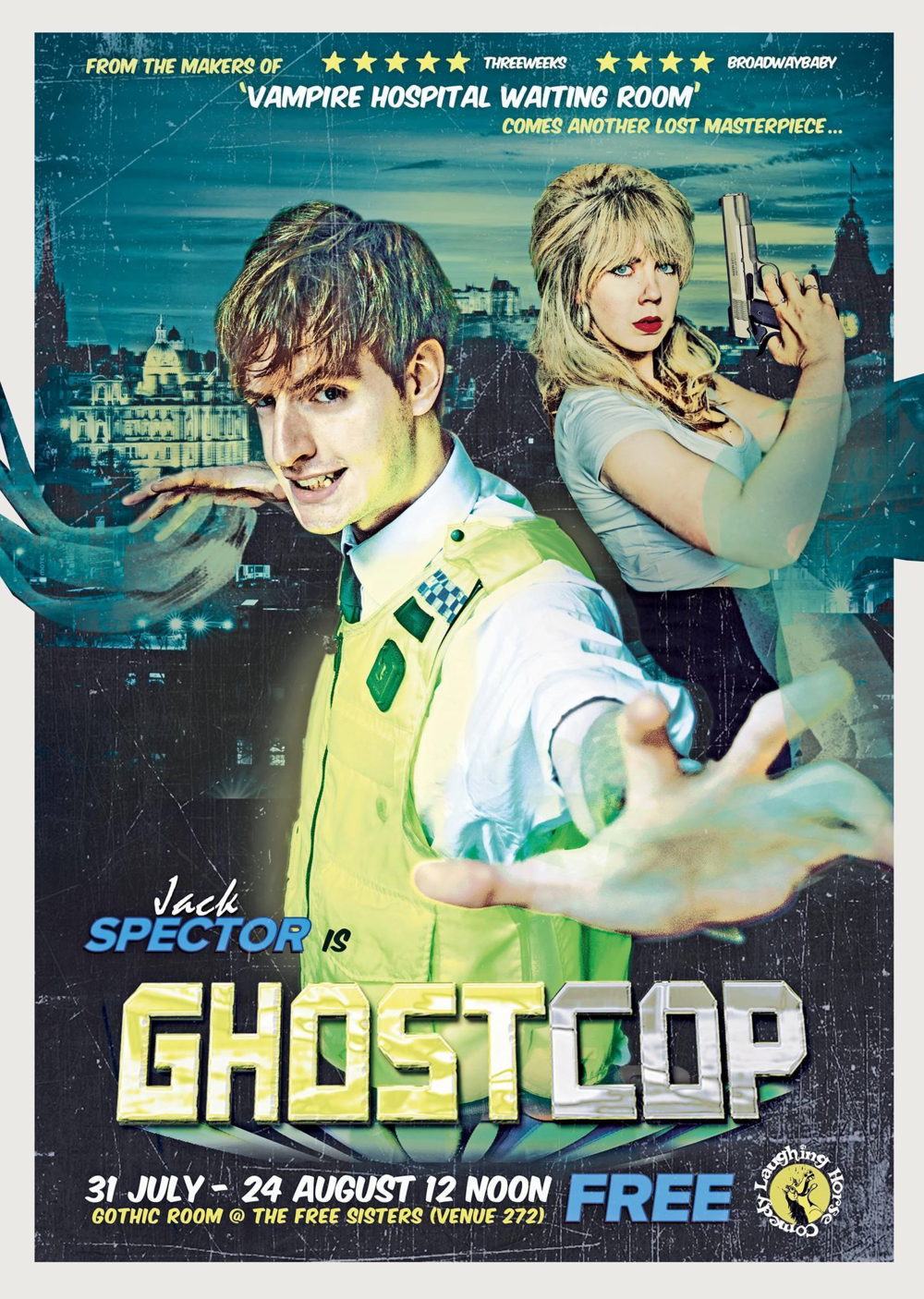 GhostCop poster. Design by Mihaela Bodlovic: http://www.aliceboreasphotography.com/