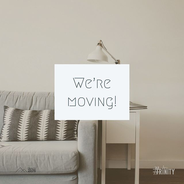 Our Young Adult LifeGroup is on the move! We will be at a different location tonight 7pm. Please DM for details. #WeAreTrinity #TYA