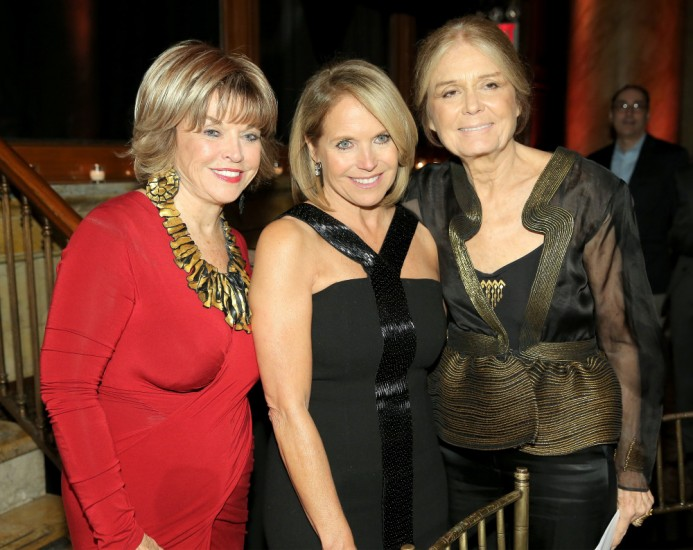 With Katie Couric and Gloria Steinem