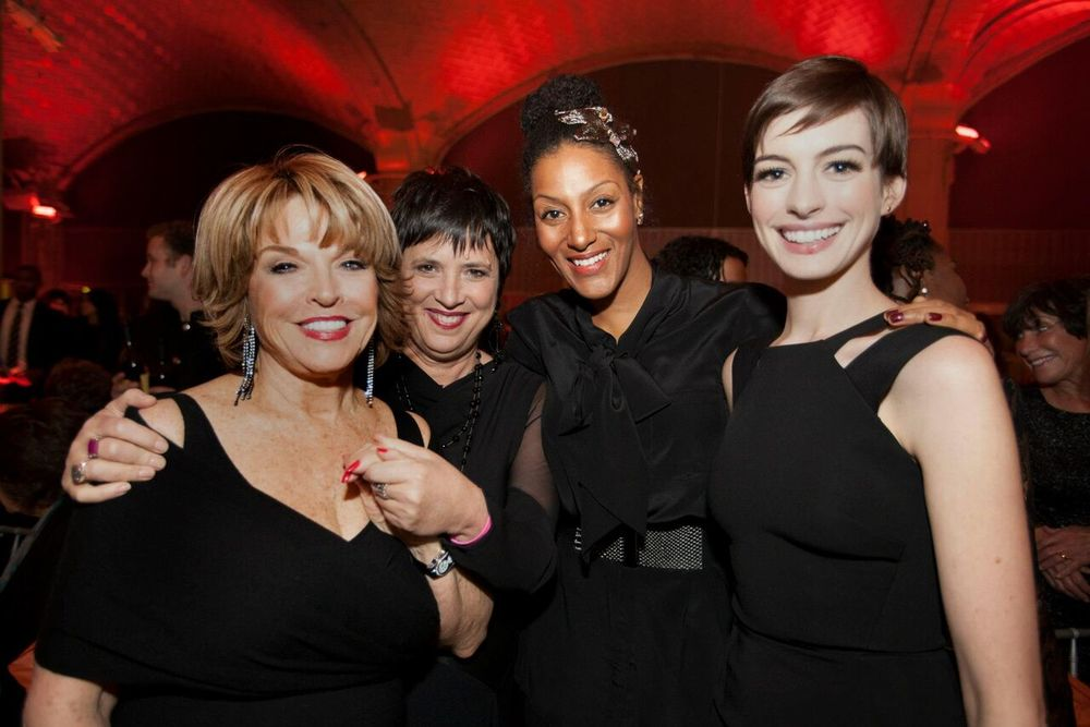 With Eve Ensler, Sarah Jones and Anne Hathaway