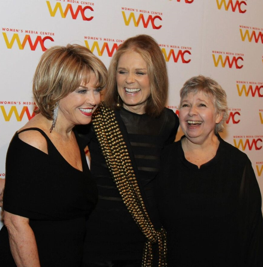 With co-founders Gloria Steinem and Robin Morgan
