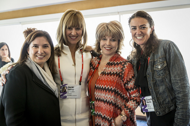 With remarkable women at TEDWomen 2015. From left to right:  Regina Scully ,  Jacki Zehner , me and  Courtney Martin .