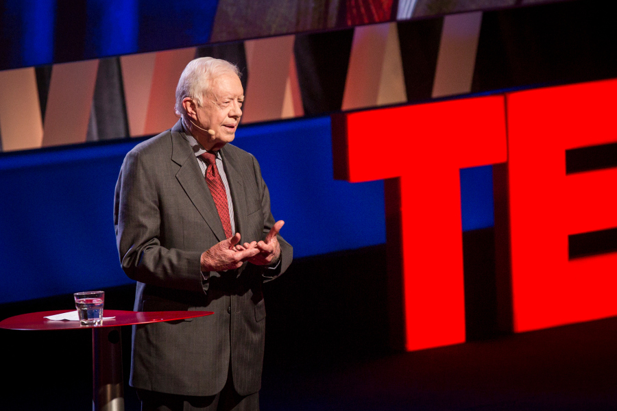 President Carter onstage at TEDWomen (photo courtesy of TED)