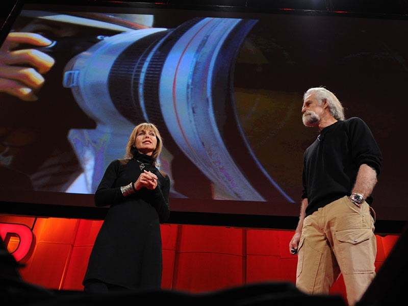 Beverly and Dereck Joubert at the first TEDWomen in 2010.