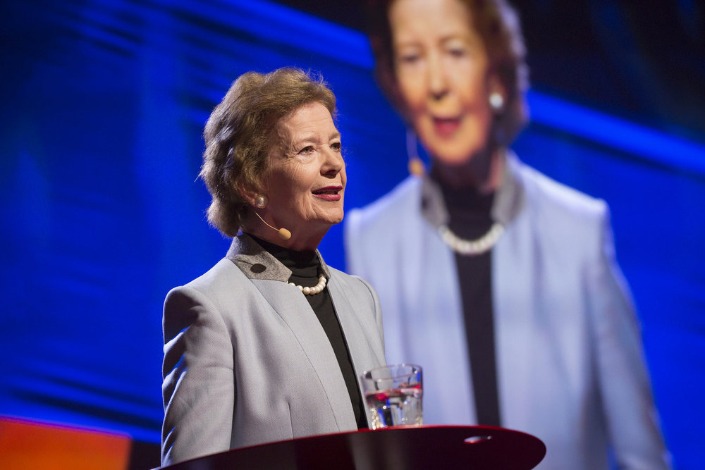 Mary Robinson speaks at TEDWomen2015 in Monterey, California, USA. Photo: Marla Aufmuth/TED