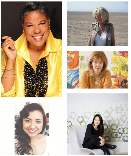 Just some of the 300+ impact makers across 5 continents included in the project. (clockwise l-r) Patti Carpenter, Dominique Serra, Penelope Gottlieb, Aurelie Tu and Vanessa Thompson. See more women and profiles at  impactmania .