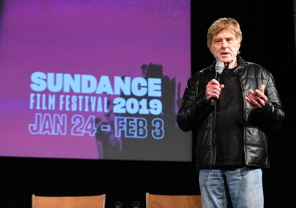 Robert Redford spoke at the opening news conference for the 2019 Sundance Film Festival at the Eccles Theater in Park City, Jan. 24, 2019. (Credit: Getty Images)