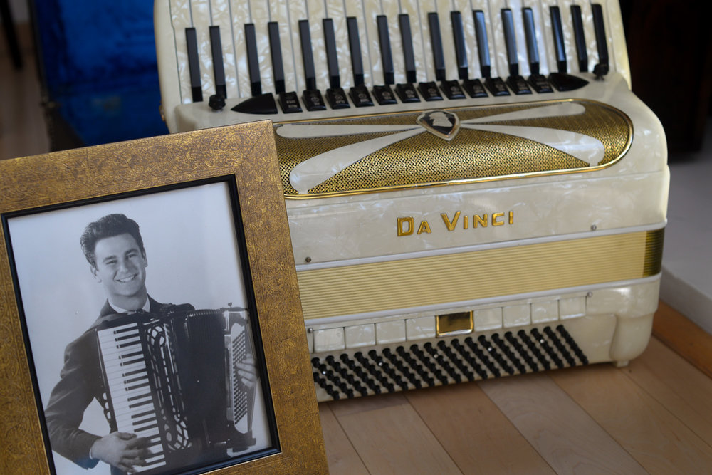 Milton Mann and his accordion