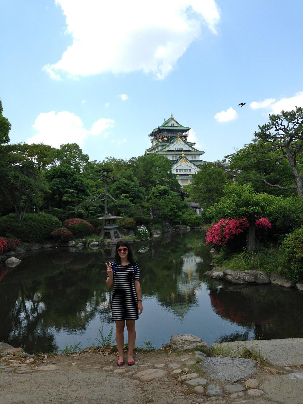 Brooke at the Osaka Castle