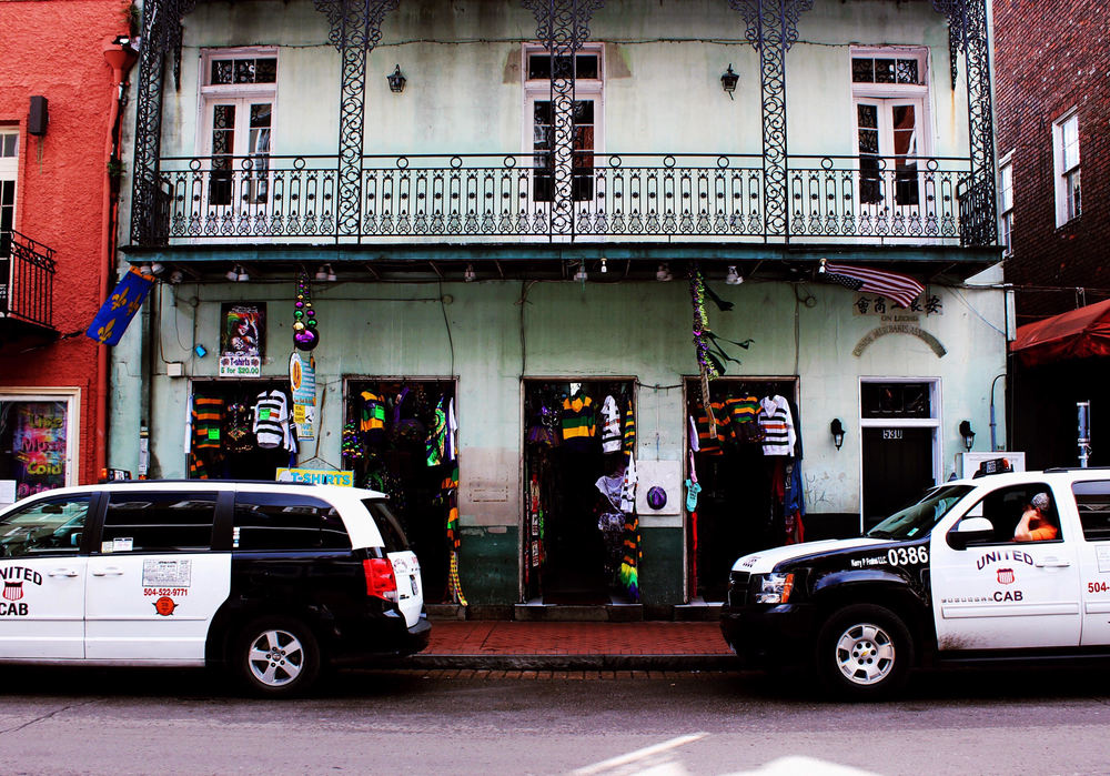 Caption: Quarter Cabs. This one is all about New Orleans, and the Mardi Gras spirit, and ideally it makes you want to travel here.