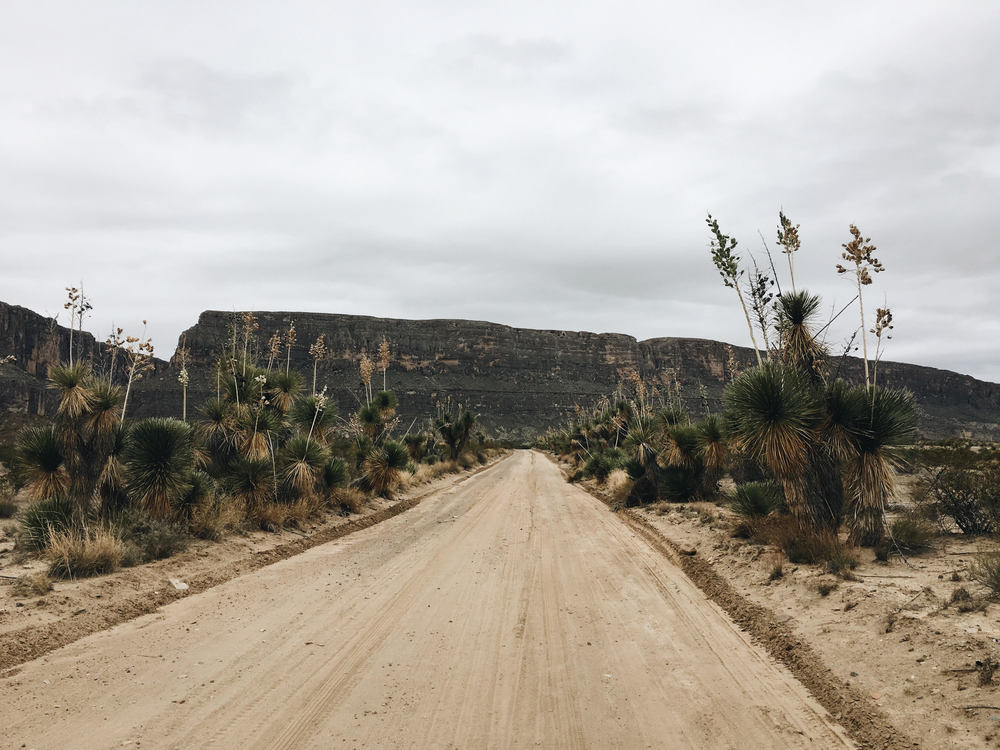 Driving along the Terlingua Creek bandlands descending into the Rio Grande and Santa Elena Canyon. There's a deep magic out in this wilderness.
