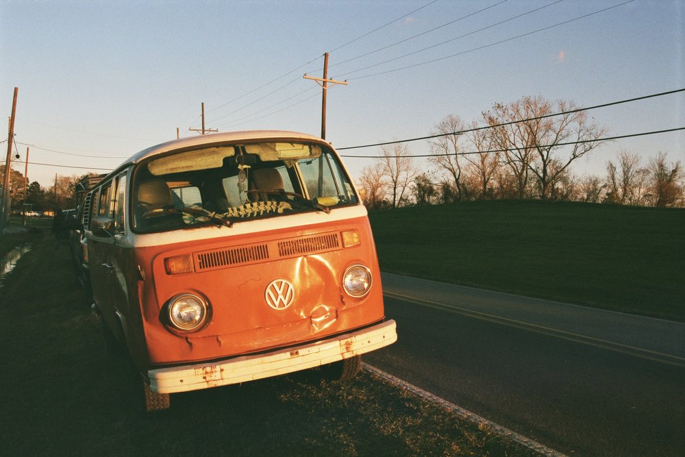 VW Bus on the Levee