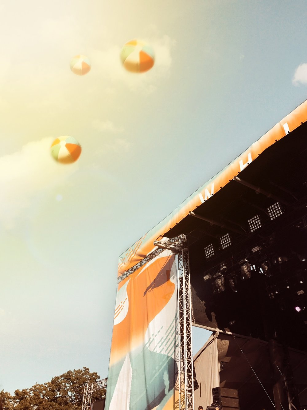 Beach Balls in the Sky