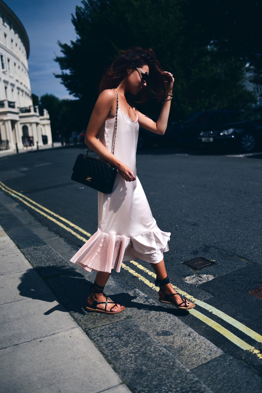 Lorna Luxe for Oui We in Slip Dress