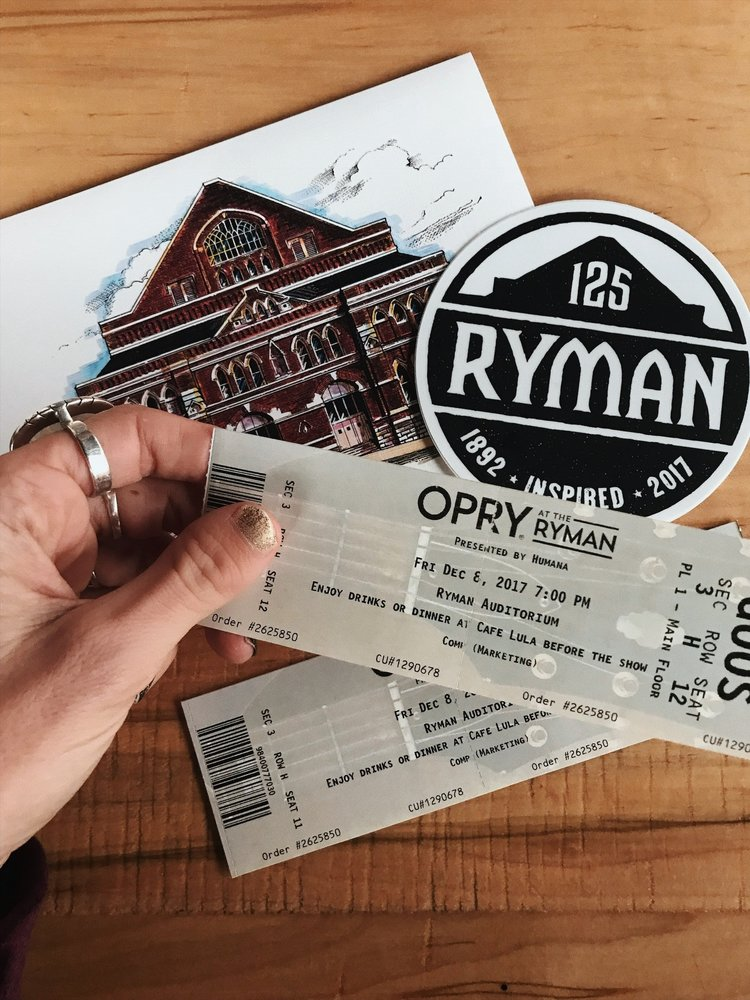 Grand Ole Opry Tickets >> For The Traveling Creative Find A Lifestyle Of Authentic Living
