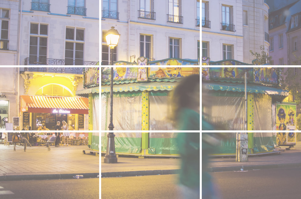 Carousel, Paris with grid, by Sam Spahr