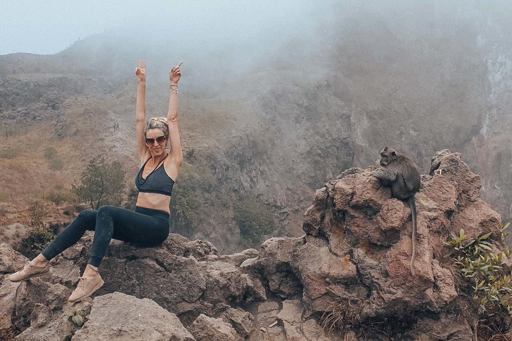 Hike mount batur bali travel vacation ideas monkey forest