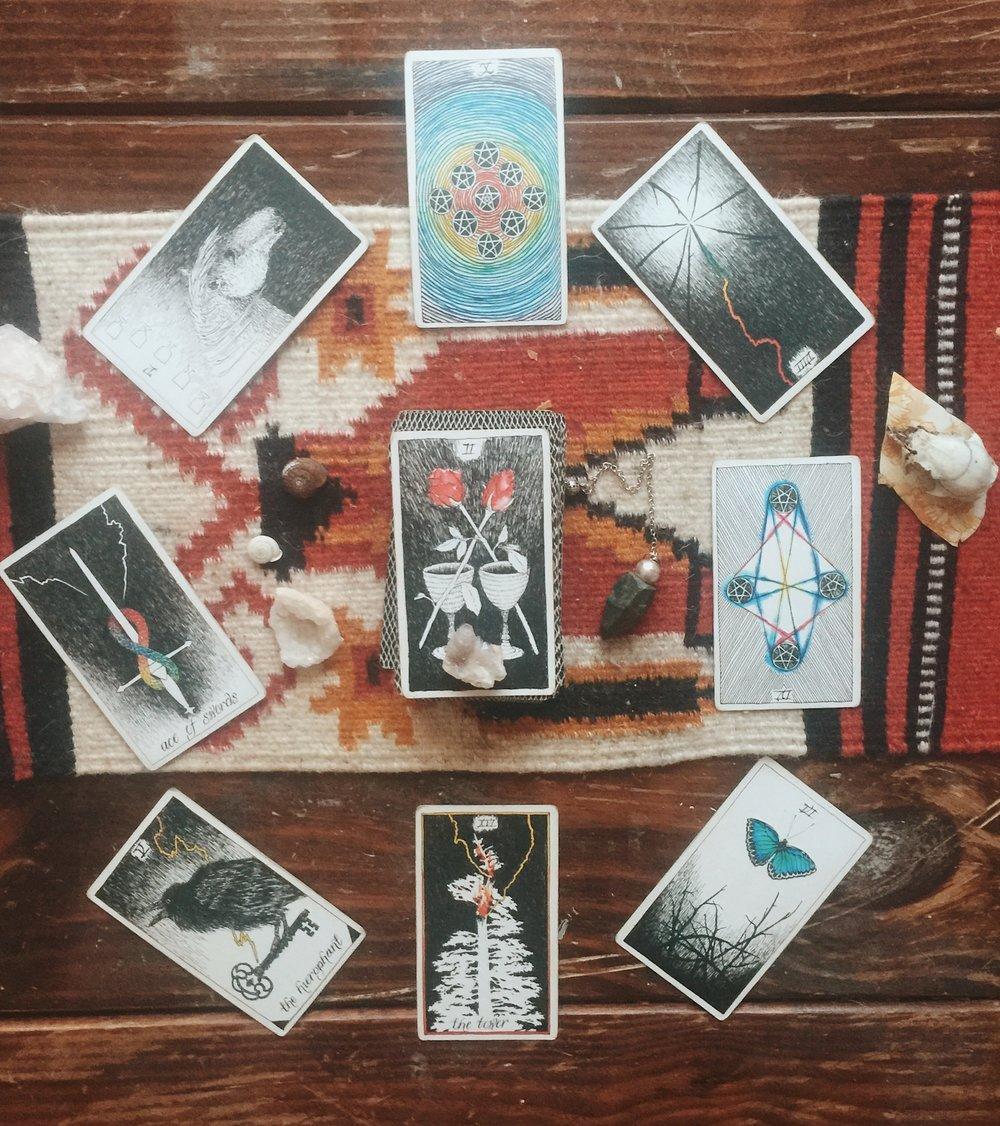 tarot, supermoon, wild unknown cards