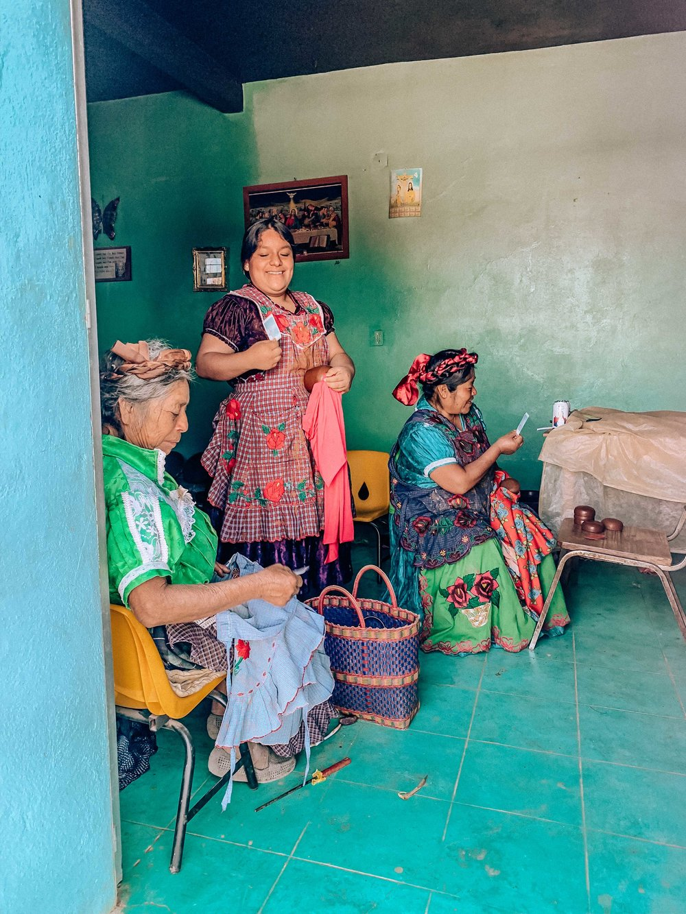 women's cooperative, oaxaca mexico, polaroid, instax