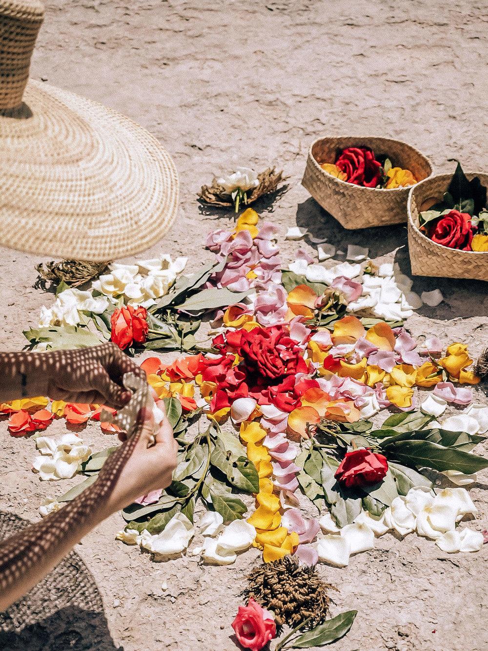 flower mandala, hierve el agua, oaxaca, mexico, shadow, chasing light