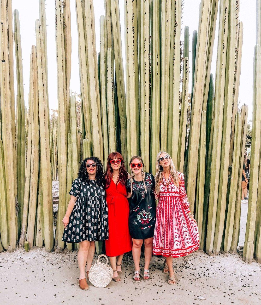 oaxaca botanical gardens, cactus, bohemian style, girls travel