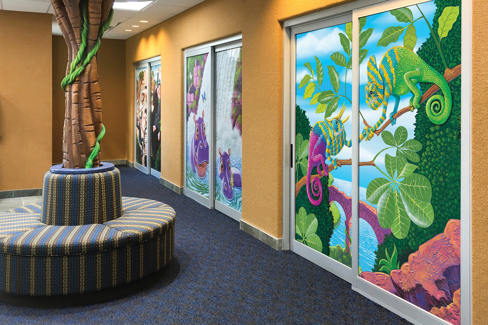 Custom Designed Patient Room Door Murals