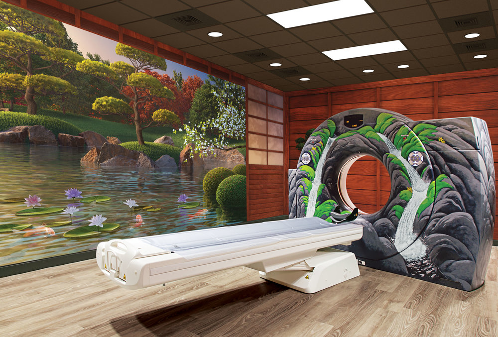 Zen Water Garden Themed CT Room