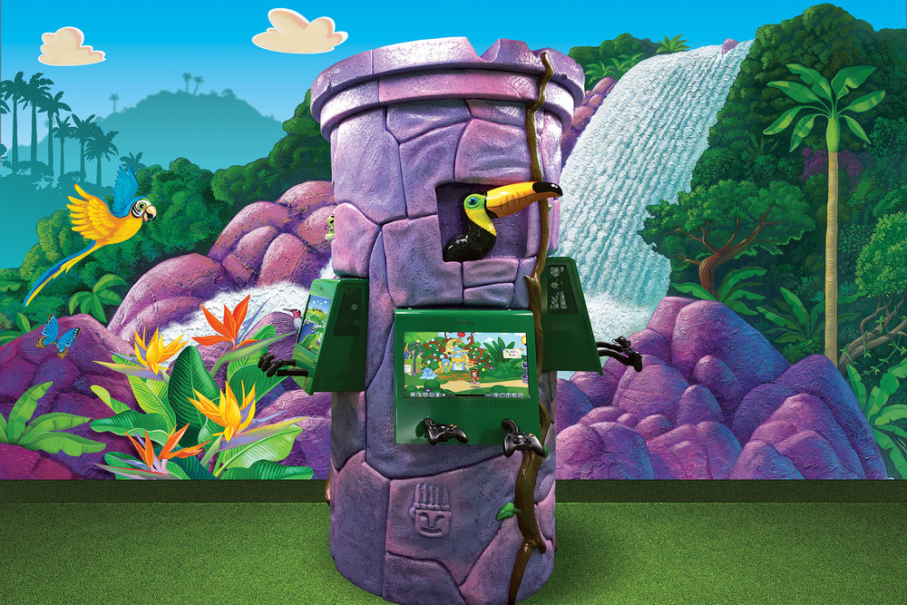 Topical Themed Paradise Lost World Temple Game Kiosk