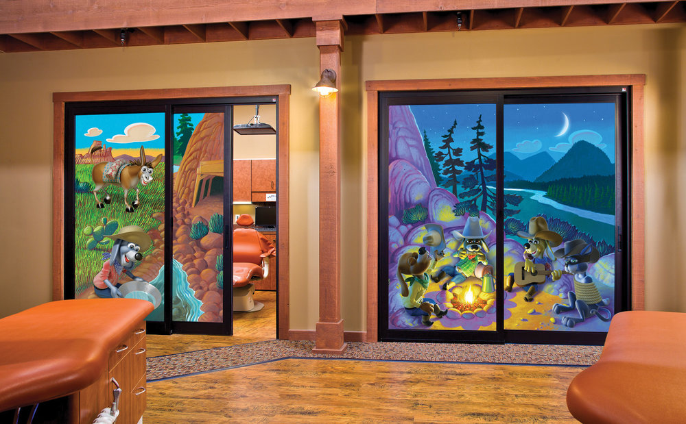 Horton Quiet Room Dental Door Murals