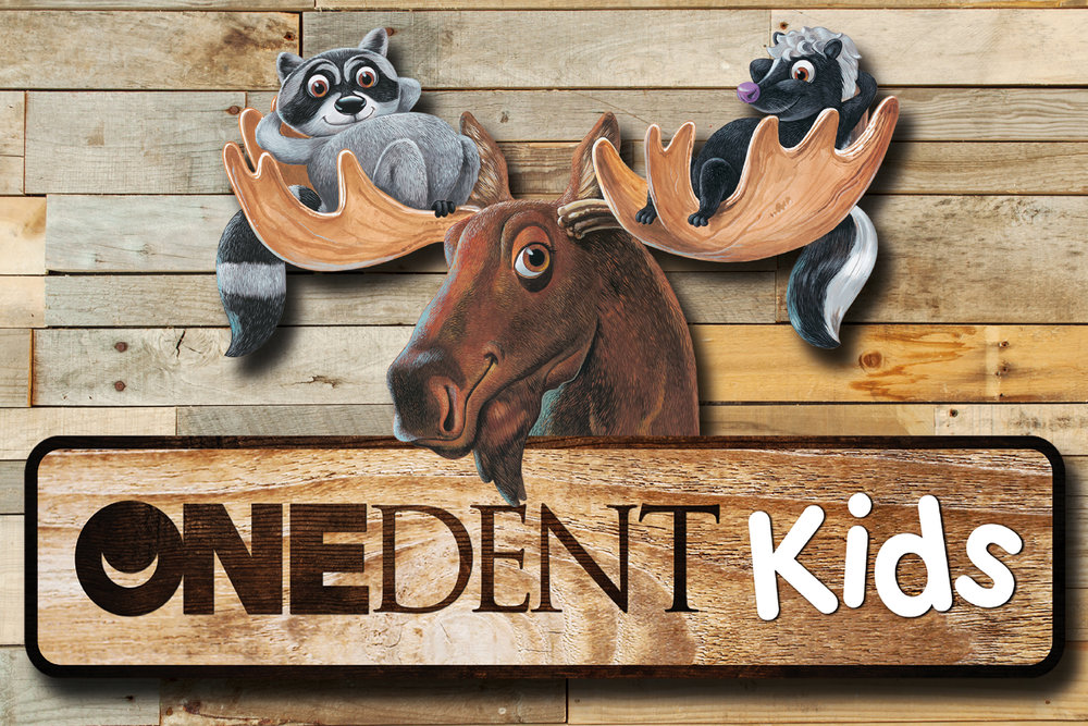 OneDent Kids Northwoods Custom Themed Office Signage